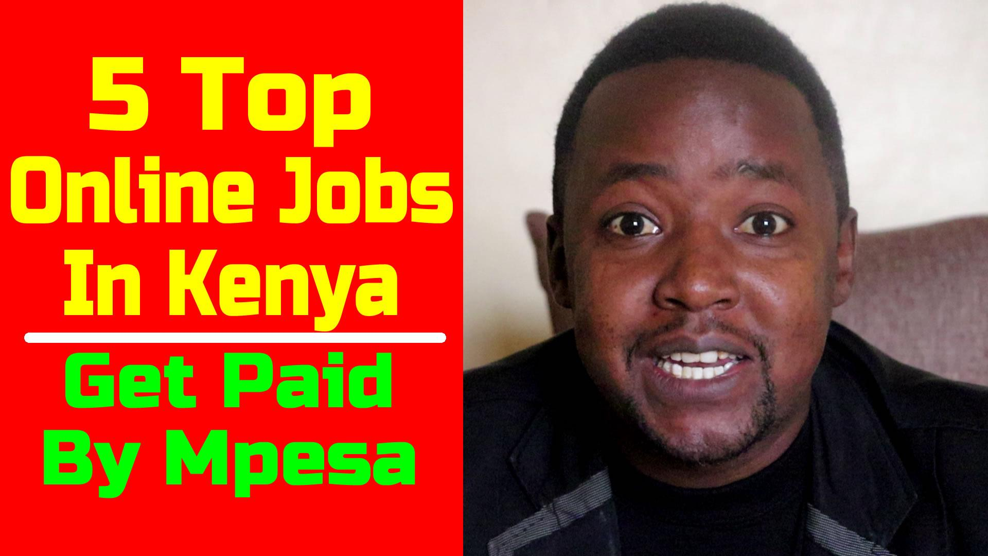 Online Jobs paying by Mpesa